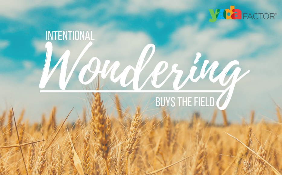 Intentional Wondering Buys the Field